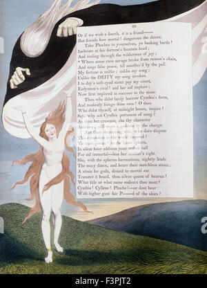 William BLake - Illustration of Page 46 from the 'Nights' of Edward Young's 'Night Thoughts' - Stock Photo
