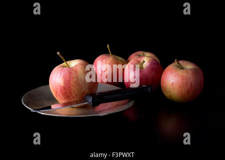 The Chosen One. Fate, destiny concept. Still life with apples. - Stock Photo