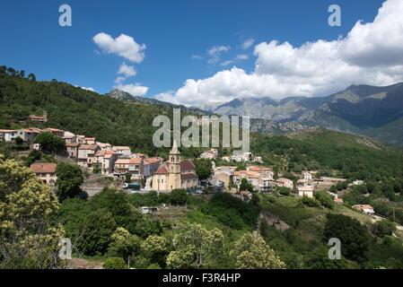 Vivario village, Corsica, France - Stock Photo