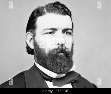 Vintage portrait photo of famous Irish American bare-knuckle boxer John Morrissey (1831 - 1878) - heavyweight Champion - Stock Photo