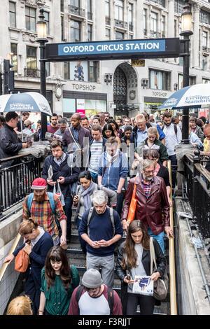 Oxford Circus Underground Station, London, United Kingdom - Stock Photo