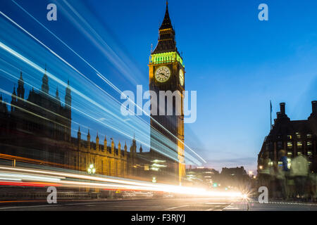 Big Ben and Palace of Westminster, London, United Kingdom - Stock Photo