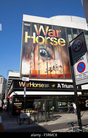 National Theatre's production of War Horse playing at the New London Theatre, Drury Lane - Stock Photo