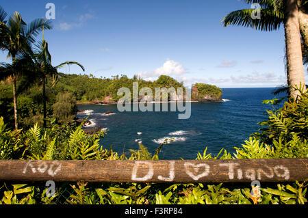 Coastal views from the Panoramic Route Pepe'ekeo. Big Island. Hawaii. Pepe'ekeo scenic drive. The Pepe'ekeo (also - Stock Photo
