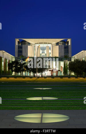 Berlin. Germany. Bundeskanzleramt, the German Chancellery building. - Stock Photo