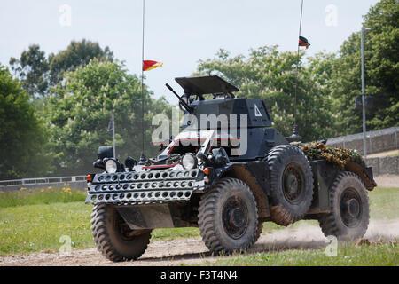 Ferret MkII Scout Car, The Tank Museum, Bovington, Dorset - Stock Photo