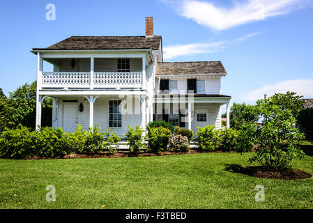 Higgins House, Navy Point Historic Houses, Chesapeake Bay Maritime Museum, St. Michaels, Maryland - Stock Photo