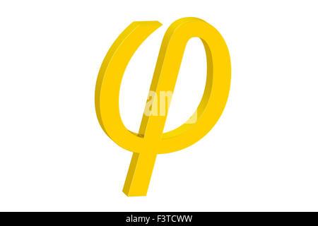 Phi Greek Letter Icon Phi Symbol In Ancient Greek Frame Vector