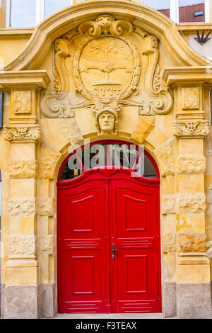Details of historical architecture in the Old Town in Wroclaw, Poland - Stock Photo