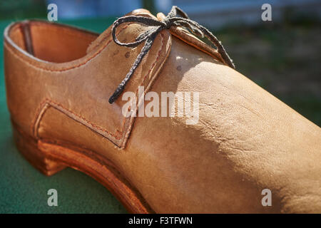 Reproduction Early American Men's Shoe - Stock Photo