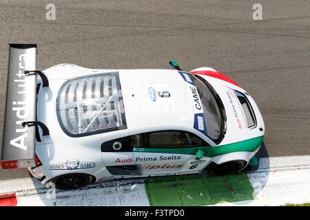 Monza, Italy - May 30, 2015: AUDI R8 LMS of AUdi sport Italia team, driven by CAPELLO Rinaldo - ZONZINI Emanuele - Stock Photo