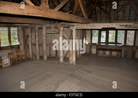 UK, England, Shropshire, Craven Arms, Stokesay Castle, North Tower, upper chamber - Stock Photo