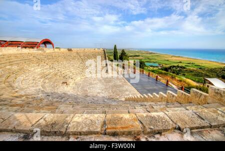 The arcaeological site of the ancient city of Kourio which is located in the district of Limassol, Cyprus. A view - Stock Photo