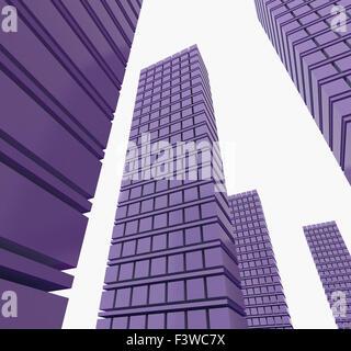 Three-dimensional city - Stock Photo