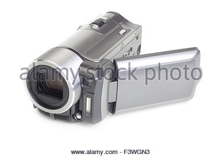 camcoder isolated on white - Stock Photo