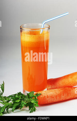 carrot juice in a glass - Stock Photo