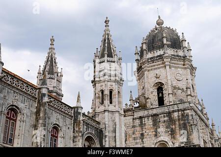The view of the Mosteiro Dos Jeronimos - Stock Photo
