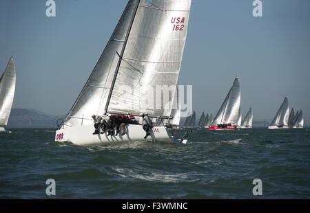 2010 Melges 32 World Championship 8th race - Stock Photo