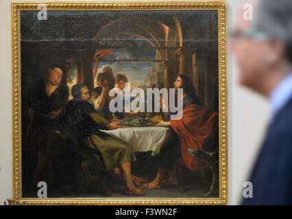 Prague, Czech Republic. 13th Oct, 2015. National Gallery displays painting The Supper at Emmaus by Peter Paul Rubens - Stock Photo