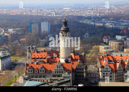 leipzig view from the tower - Stock Photo