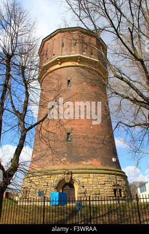 old water tower in leipzig - Stock Photo