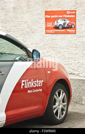 db bahn, flinkster carclub, carsharing - Stock Photo