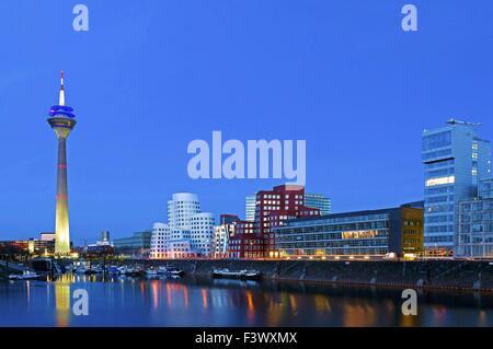 Duesseldorf Media Harbour - Stock Photo