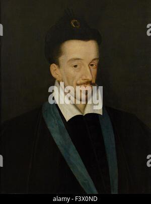 François Quesnel - Henri III - King of France - Louvre Museum Paris - Stock Photo