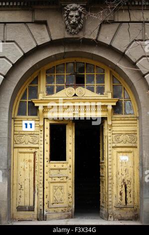 Art-Nouveau facade in Tbilisi Old town - Stock Photo