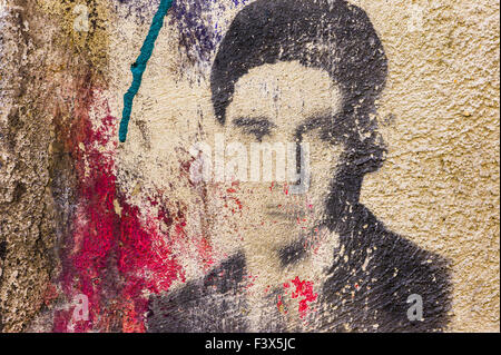 franz kafka, graffito - Stock Photo