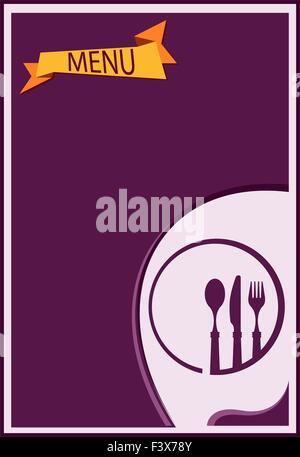 Menu Card Design Template - Stock Photo