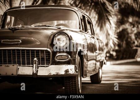 Oldtimer in Cuba - Stock Photo