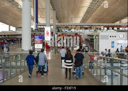 Hong Kong International airport. - Stock Photo