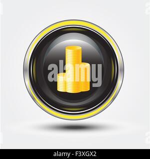 money on button - Stock Photo