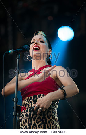 Imelda May performing live - Stock Photo