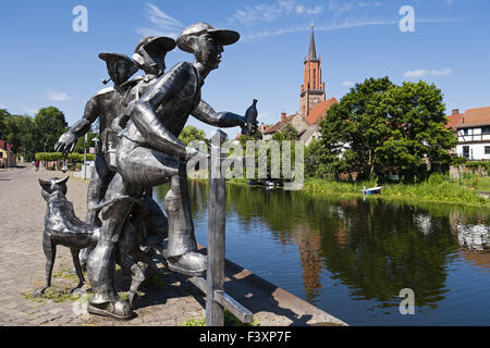 Sculpture Schleusenspucker, Rathenow, Germany