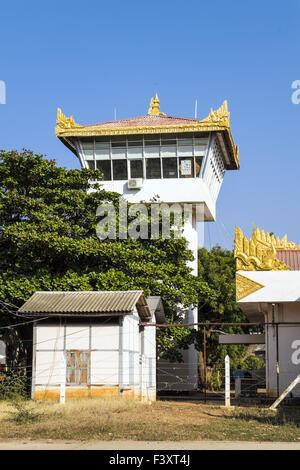 Tower of Nyaung U Airport, Mandalay Division - Stock Photo