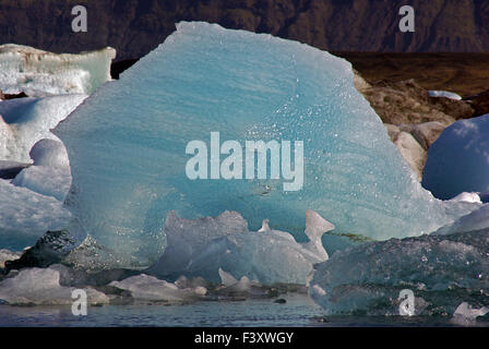 Ice art: Glacier lagoon on the lake - Stock Photo