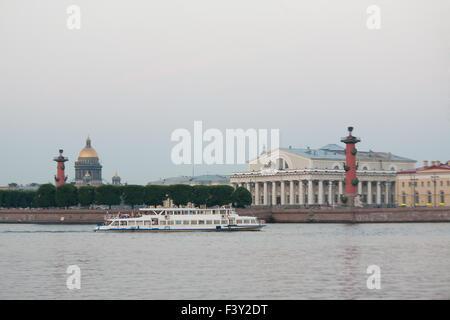 White nights of St.Petersburg, Russia. - Stock Photo