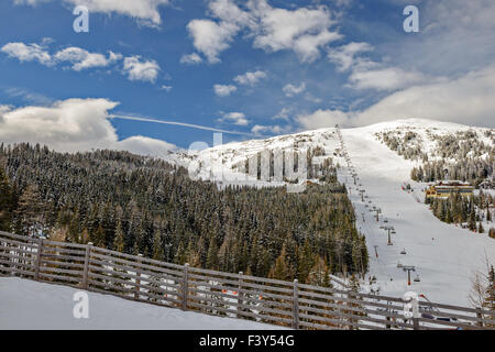 Ski resort in Austrian Alps - Stock Photo