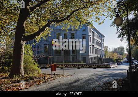 Spanish Embassy, Grosser Tiergarten in Berlin - Stock Photo