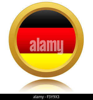 Germany Flag Glossy Button - Stock Photo