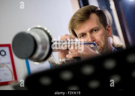 Hradec Kralove, Czech Republic. 13th Oct, 2015. Jazz goes to town Festival starts in Hradec Kralove, Czech Republic, - Stock Photo