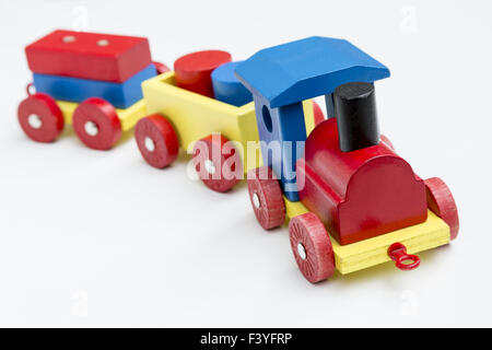 Wooden toy train for children - Stock Photo