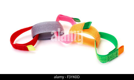 Chain from Colorful Velcro Strips - Stock Photo