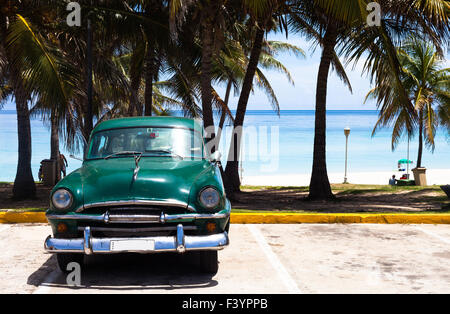 Cuba American classic car 11 - Stock Photo
