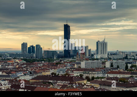 Skyline Vienna Donau-City - Stock Photo