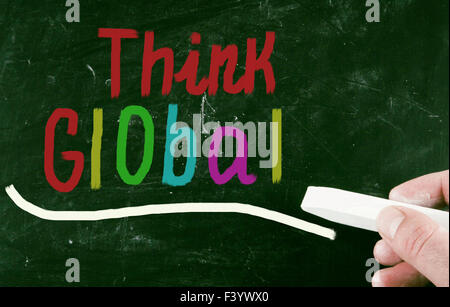 think global concept - Stock Photo