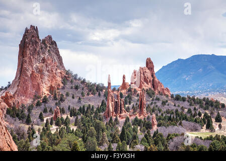 Garden of the Gods in Colorado Springs - Stock Photo