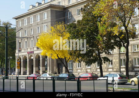 Nowa Huta, Krakow. Former symbol of communism in Poland. Plac Centralny, now Ronald Regan Square. Stalinist architecture. - Stock Photo